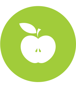 Apple icon from The Pantry logo.